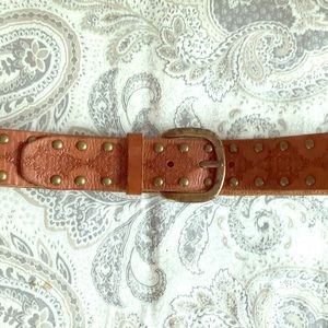 Leather Fossil belt, size M